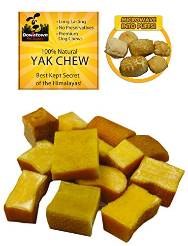 Downtown Pet Supply Himalayan Yak Nugget Dog Chew, 100% Natural Dog Chews, Value Pack (~ 1/4 lb Sampler Pack, Multiple Nuggets) ()