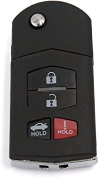Sourcing Map Schlüssel Gehäuse Fernbedienung Schlüsselgehäuse 4 Taste Für 3 5 6 Rx 8 Cx 7 Cx 9 Auto
