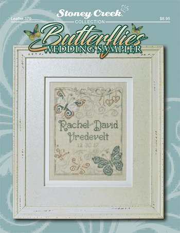Butterflies Wedding Sampler (Leaflet 379) Cross Stitch Chart and Free Embellishment (Patterns Sampler Stitch Cross Wedding)