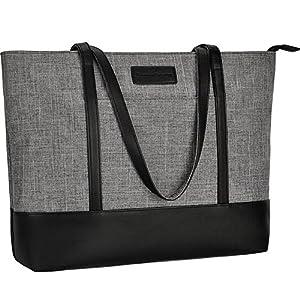 Laptop Tote Bag,Fits 15.6-17 Inch Laptop,Womens Lightweight Water Resistant Nylon Tote Bag Shoulder Bag Messenger Bag