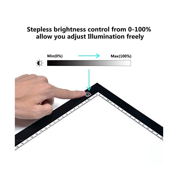 AGPtek-New-A4-LED-Artcraft-Tracing-Light-Pad-Extra-Large-Active-Area-Ultra-Thin-Stepless-Brightness-Control-Tatoo-Pad-Animation-Sketching-Designing-X-ray-Viewing-WUSB-Adapter-PSE-Approval