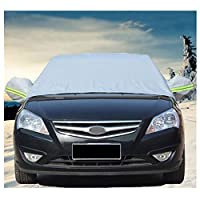 Windshield Sun Shade Car Sun Shade Fits Most Vehicles Universal Car Sun Cover, Windshield Cover Waterproof Cover, Design Protects Front Windows and Rear Mirrors with Hooks Fixed Four Wheels, Reflectiv