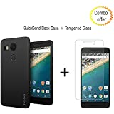 Combo Offer LG Nexus 5X QuickSand Back Case + 2.5 D Curved Tempered Glass By Foso (Quicksand)