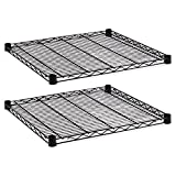 Alera SW582424BL Industrial Wire Shelving Extra Wire Shelves, 24w x 24d, Black (Case of 2)