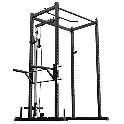 Rep Power Rack – PR-1000 – with LAT Pull-Down Attachment and Dip