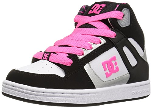 DC Shoes Girls Shoes Rebound Se - High Shoes - Kid's - US 6 - Black Black/White/Pink US 6 / UK 5 / EU 37