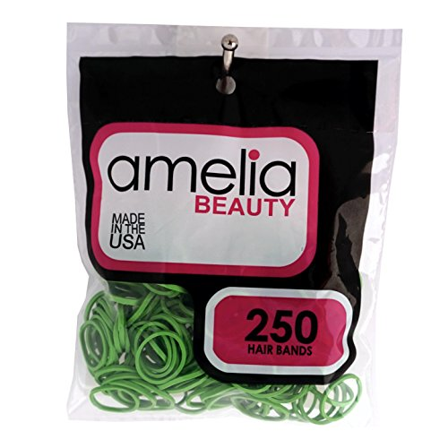 Mix 250ct Bag - 250 Count Rubber Band Pony Tail Holders (Lime)