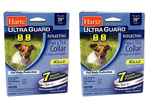 Flea Collar for Dogs and Puppies 2 PACK Reflecting Collar 7