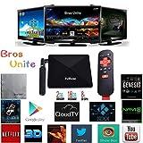[2016 Latest TV Box] Bros Unite W9 TV Box Amlogic S812 Quad Core Fully loaded Add-ons with KODI Cloud TV H.265 Airplay Miracast 3D Blu-ray 4K Stream media player Smart HTPC TV BOX 2G/16G