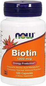 Now Supplements, Biotin 1000 mcg, 100 Capsules