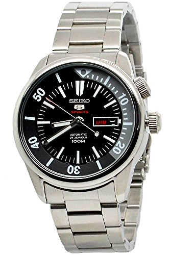 Seiko-5-Sports-Automatic-SRPB27-Black-Dial-Stainless-Steel-Mens-Watch