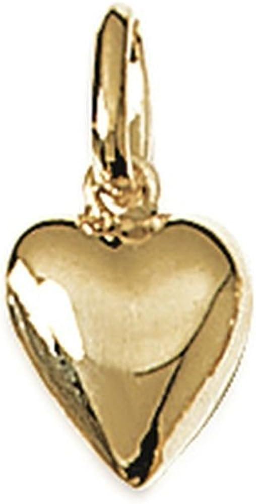 Obrillant-Bijoux Pendentif en plaqu/é Or Petit c/œur cisel/é Discret