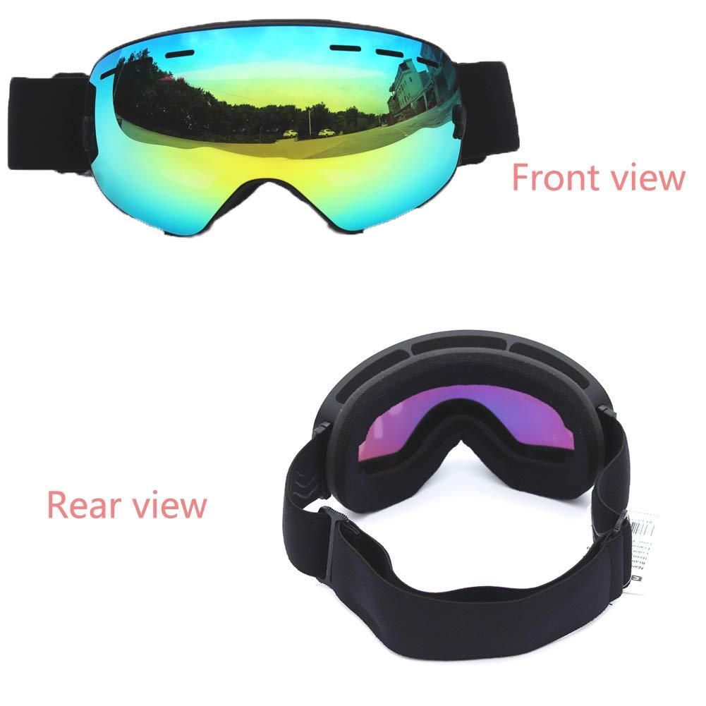 OTG Skibrille Doppel-Lagerung UV400 UV Anti-Fog Windproof Windproof Windproof Large Spherical Sonnenbrille Non-Slip Silicone Ladies Men Es Youth Snowmobile Snowboard Komfortabel Und Sunny B07KDDH6GM Skibrillen Die Farbe ist sehr auffällig 8d916c