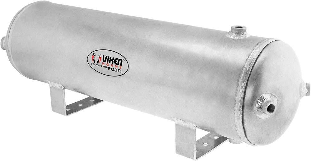Vixen Horns 3 Gallon (12 Liter) 6 Ports Train/Horn Raw Aluminum Air Tank 200 PSI VXT3000A