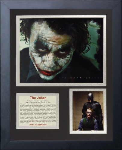 Legends Never Die The Joker Framed Photo Collage, 11x14-Inch
