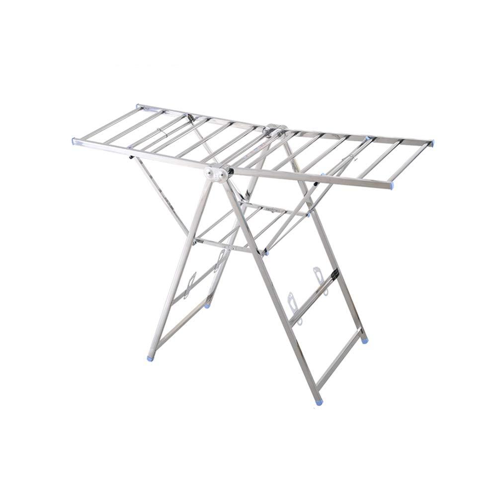 YQQ 屋内乾燥ラックタオルラックステンレス鋼Foldable 155 * 112156CM B07L9JVBZC