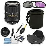 Nikon AF-S DX NIKKOR 18-300mm f/3.5-6.3G ED VR Lens Bundle with Professional HD Filters, Lens Hood, Lens Case, 5 Piece Lens Starter Kit.