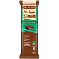 WELL NATURALLY No Sugar Added Peppermint Chip Milk Chocolate, 45 g