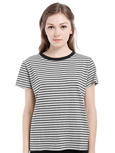 Blooming Jelly Sleeves Stripe T shirt