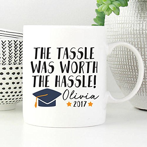 The Tassle Was Worth The Hassle Mug, Personalized Graduation Gift, College Graduation, Graduation Mug, Grad Gift, Gift For Graduate, Class Of 2017, College Grad, High School Grad