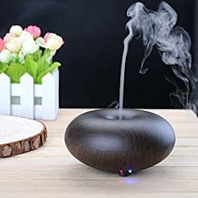 BlueFire Electric Ultrasonic Humidifier Aroma Diffuser Essential Oils Diffuser Humidifier with Cool Mist - Ultrasonic, Aromatherapy (Dark Wood)