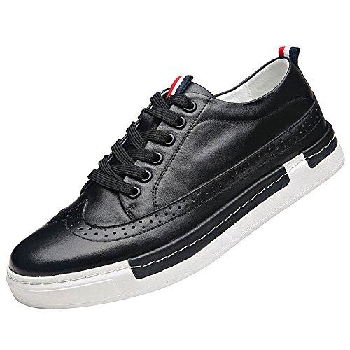 Rismart Zapatillas De Deporte Con Cordones Para Hombre, Con Cordones, Negro