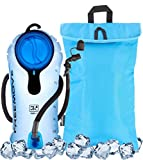 3L Hydration Pack Water Bladder & Cooler Bag - KEEPS DRINK COOL & PROTECTS YOUR BLADDER - Durable Leak Proof Water Reservoir - Large Opening - Tasteless BPA Free - Quick Release Tube & Shutoff Valve