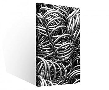 86aa78ffbe7d3 Amazon.de  Leinwandbild 1 Tlg Metall Feder Federn abstrakt Hintergrund  Schwarz weiß Leinwand Bild Bilder Druck Holz gerahmt 9V277
