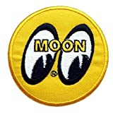 Moon Embroidered Iron on Patch car racing F1