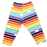 Mitz Accessories Retro Rainbow Leggings With Clouds