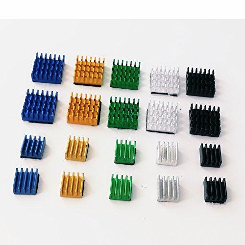 k,Yoolight 20pcs Raspberry Pi Aluminum With 3M 8810 Thermal Conductive Adhesive Tape for Raspberry Pi 3 B, Pi 2 B, Pi 1 B+ ()