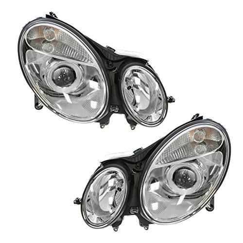 - Headlights Headlamps Left & Right Pair Set for Mercedes Benz E-Class