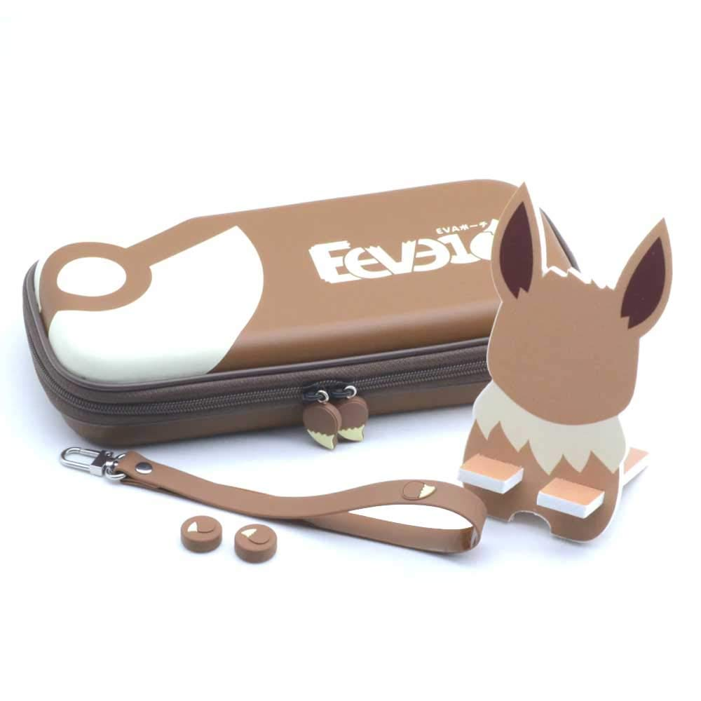 RegisBox Eevee Switch Case Cute Pokemon Switch Case 16 Game Card Storage Travel Case Nintendo Switch Accessories