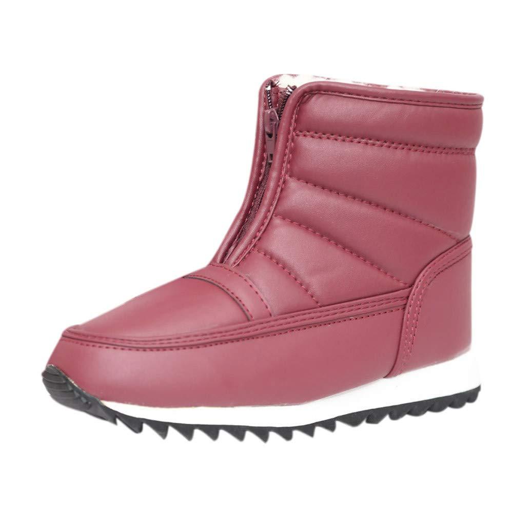 ZODOF Botas de Nieve para Mujer Botas para la Nieve Botas de Invierno para la Mujer Zapatos para Madres Antideslizantes Moda Flexible Botas Casuales