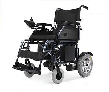 TX Eléctrico Silla De Ruedas De Viaje Portátil Super Ligero Transitable Manija Plegable Ancianos Discapacitados, Resistencia 20Km, Baterías De Plomo Ácido ...