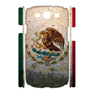 3D [National Flags] Grunge Flag of Mexico Cases for Samsung Galaxy S3, Samsung Galaxy S3 Case {White}