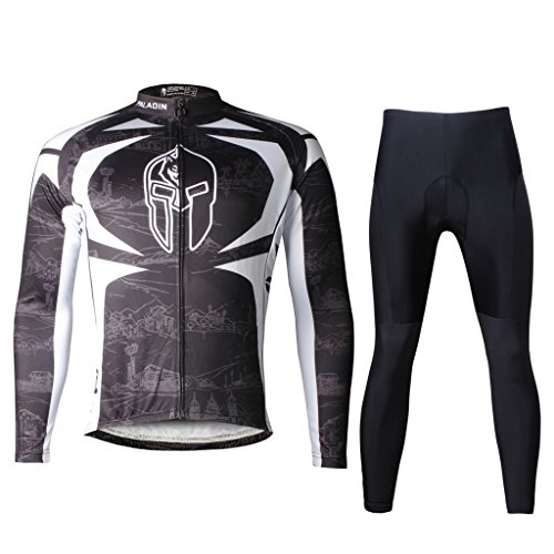 Paladinsport Men's Black Long Sleeve Cycle Clothing And Pants Set Size - Brand Clothing Liv