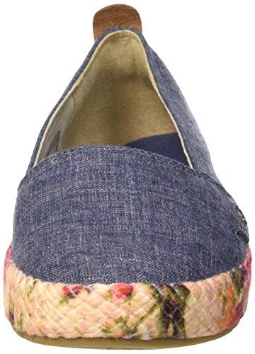 Timberland Casco Bay_casco Bay Fabric Slip On, Alpargatas para Mujer Azul - Blau (Vintage Indigo Chambray)