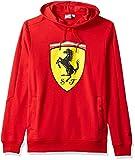 PUMA Mens Formula 1 Scuderia Ferrari Big Shield Pullover Hoodie, Rosso Corsa Red, XL