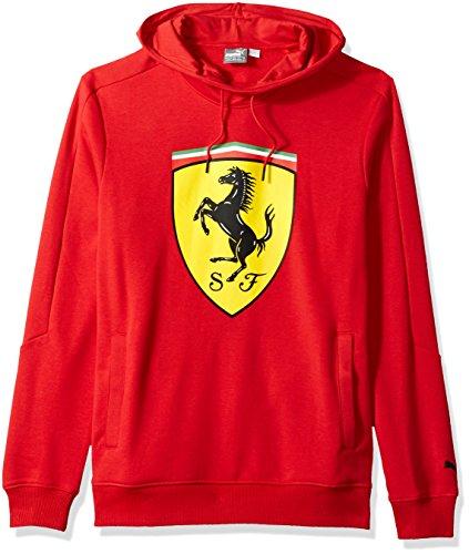 Shield Mens Sweatshirt - PUMA Men's Scuderia Ferrari Big Shield Hoodie, Red, S