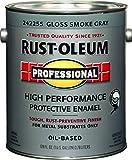 Rust-Oleum Protective Oil Based Enamel Paint Gloss Smoke Gray 1 Gl 100 G Low Voc