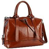 New Designer Handbags for Women,Top-handle Work Purses and Handbags,Women Casual Crossboday Bags by YAAMUU[L0010/brown]