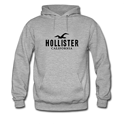 Hollister California Black Logo Printed For Ladies Womens Hoodies