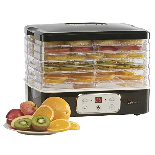 Electric Food Dehydrator Tiered 5 Tray with Adjustable Temperature Control,...