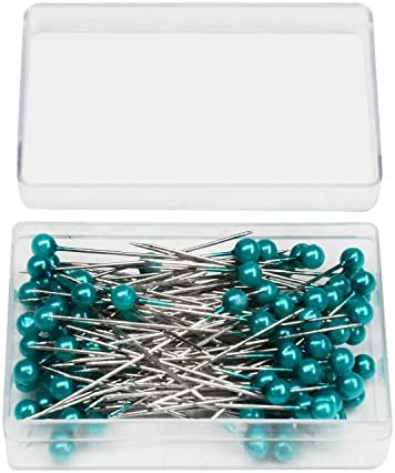 Quwei 800 Pieces Sewing Pins 38mm Glass Ball Head Pins for Dressmaking Jewelry Components Flower Decoration with Transparent Cases,8Colors