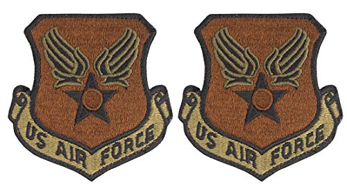 USAF Eagle (Wing and Star) OCP Spice Brown Patch with Hook Fastener-2 Pack
