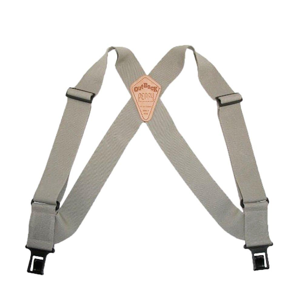 Perry Outback Comfort Suspenders 1.5'' Regular Clip-On Belt Suspender - Tan