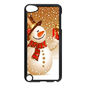 Ipod Touch 5 2D DIY Phone Back Case with Cute snowman Image