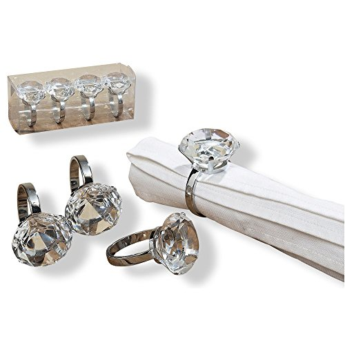 e Big Bling Napkin Rings, Set of 4, Hand-crafted, 1 3/4 Inches In Diameter, By Whole House Worlds ()