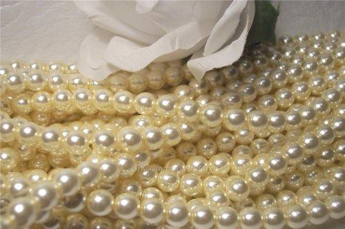 Glass Pearls Czech 6mm Round Vanilla Cream Q.100
